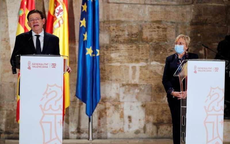 El president Ximo Puig y la consellera de Sanitat, Ana Barceló