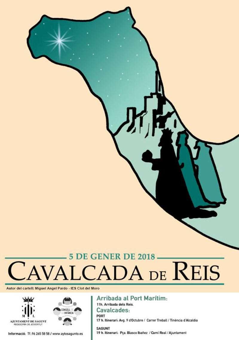 Cartel de la Cabalgata de los Reyes Magos en Sagunto y Puerto. EPDA