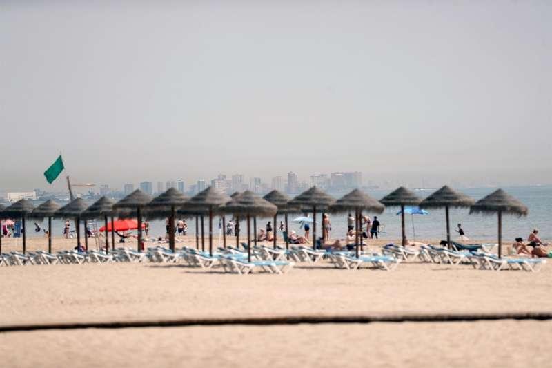 La playa de la Patacona, en Valencia.