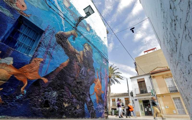 Imagen de una calle del barrio de Benimaclet de València.