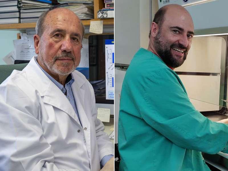 Los virólogos Mariano Esteban y Juan García Arriaza, del CNB-CSIC. / Vinca Page.-J.G. A. CSIC Comunicación