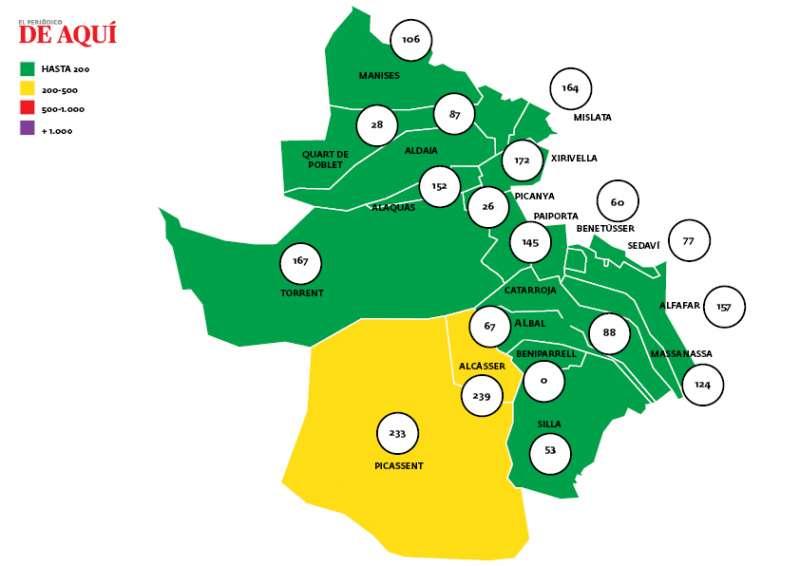 Mapa incidencia Horta Sud. EPDA