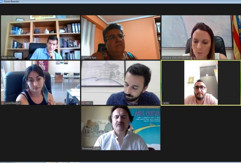 Imagen de la reunión telemática que se ha mantenido hoy entre los implicados