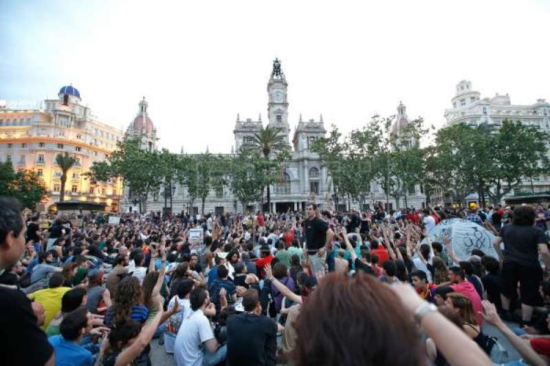 Concentración del 15 M en Valencia. EPDA