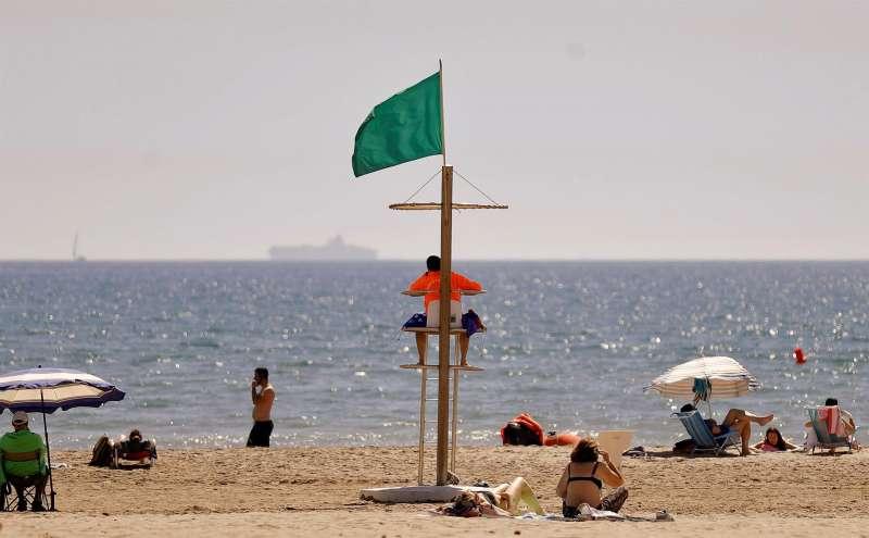 La playa de la Patacona en Alboraia (Valencia).