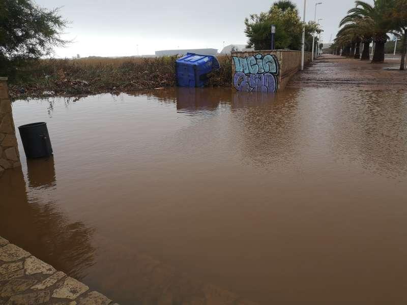 Inundación en el Port de Sagunt
