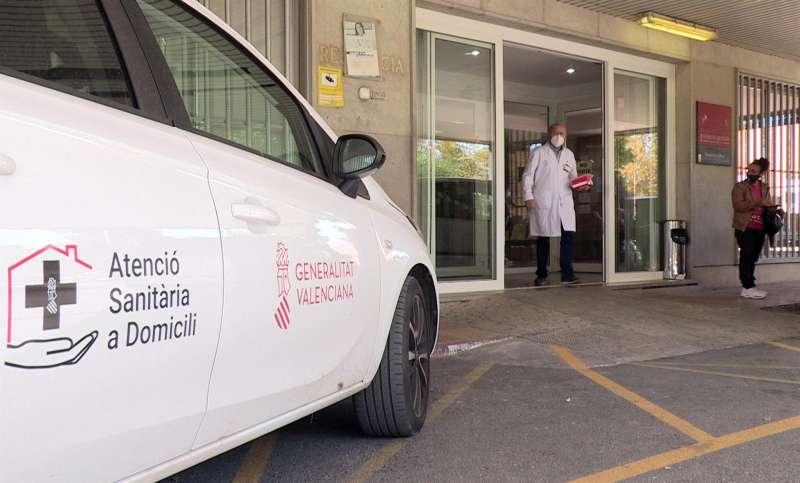 Vista general de la entrada del ambulatorio de Requena.