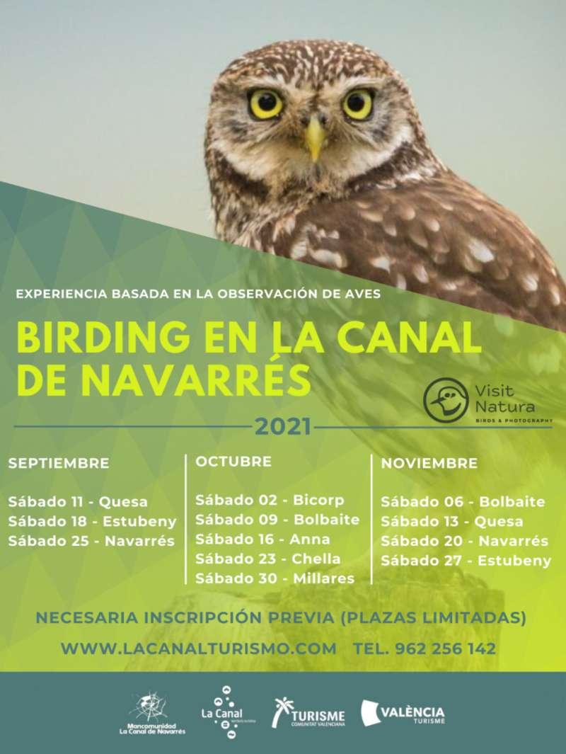 Descubre las aves de la Canal Territorio Turi?stico a trave?s de las visitas guiadas gratuitas. EPDA