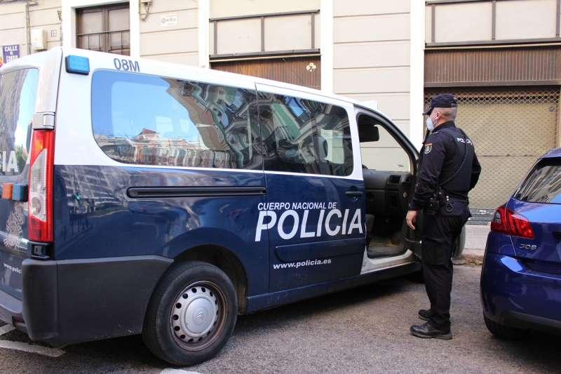 Una furgoneta de la Policía Nacional