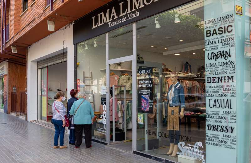 Comercio de moda textil en Mislata.