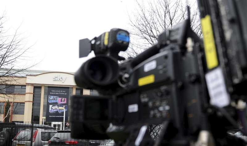 Una cámara de televisión en una imagen de archivo.