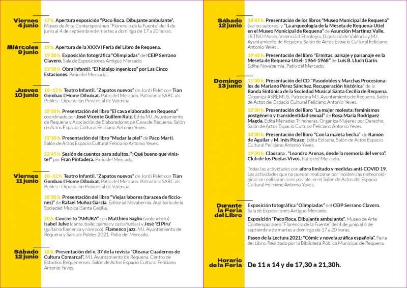 Programa de la Feria del Libro