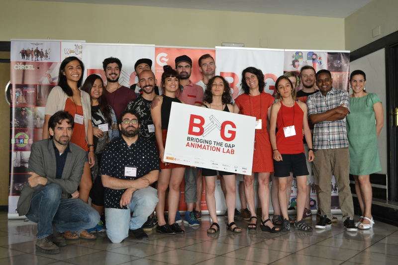 Participantes en el Laboratorio Internacional de Animación Bridging the Gap