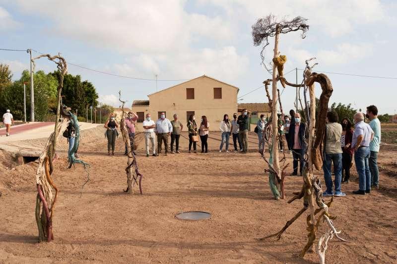 Acto de presentación de la campaña en la huerta de Meliana. EPDA