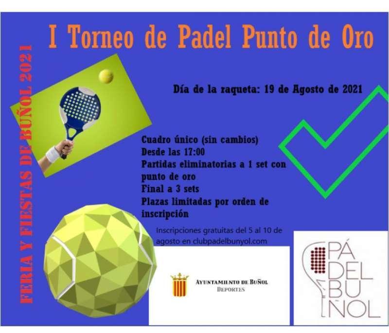 En estas Feria y Fiestas de 2021 de Buñol,  los deportes de raqueta tendrán su día este jueves 19 de agosto . EPDA