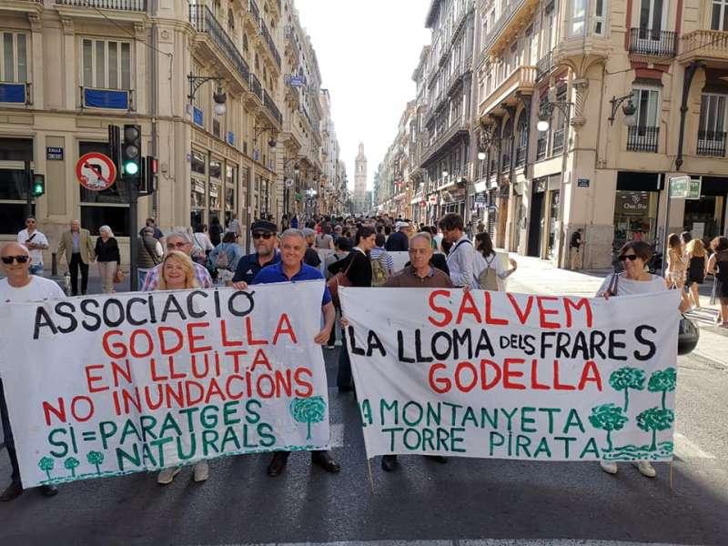 Una de las protestas del coletivo de Godella