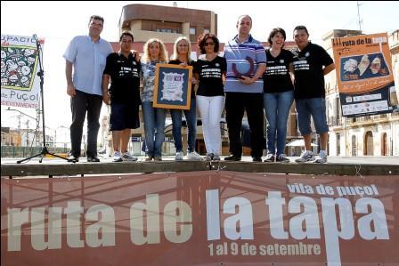 La alcaldesa de Puçol durante el acto de entrega de premios de la Ruta de la Tapa. Foto: EPDA
