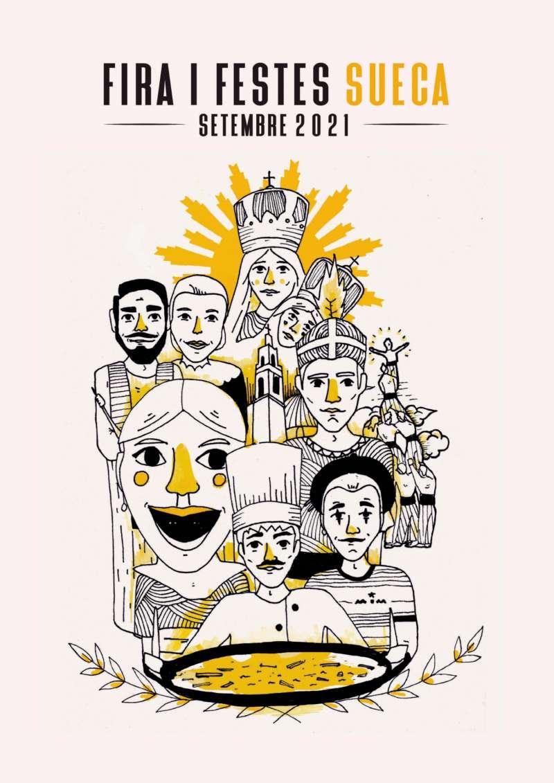 Cartell Festes de Sueca 2021. EPDA