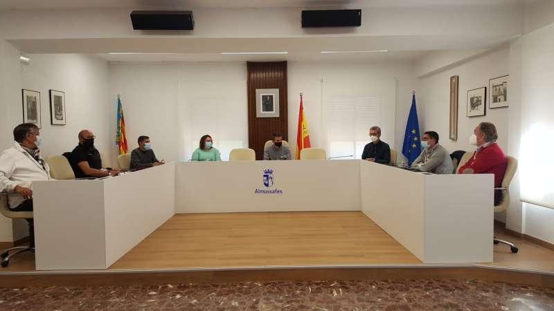 Reunió delegats sindicals./Ajuntament Almussafes