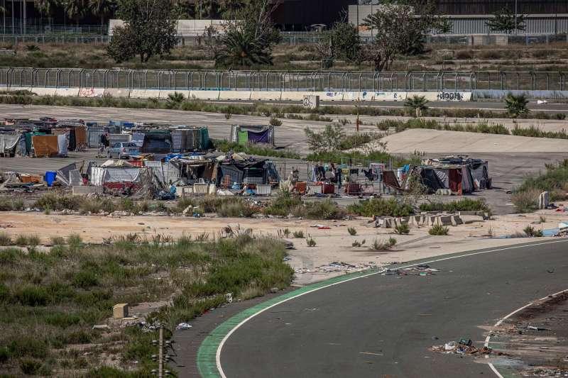Vista general del asentamiento de chabolas