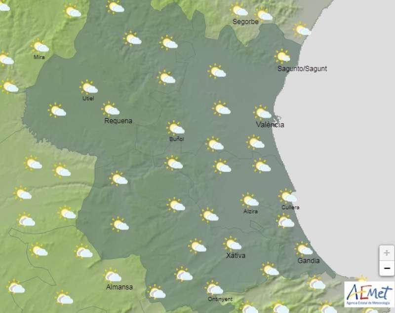 Previsión del tiempo del día 2 de mayo en Valencia