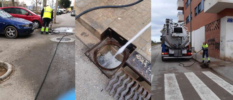 Trabajos de limpieza en Massamagrell. EPDA
