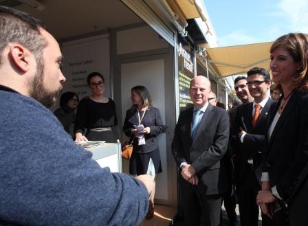 El conseller ha inaugurado junto al rector de la Univesitat Politècnica de València, Francisco Mora, la XIV edición del Foro de Empleo 2014 de la UPV.