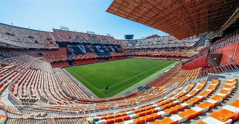 El estadio Mestalla, en una imagen compartida en redes por el Valencia CF.