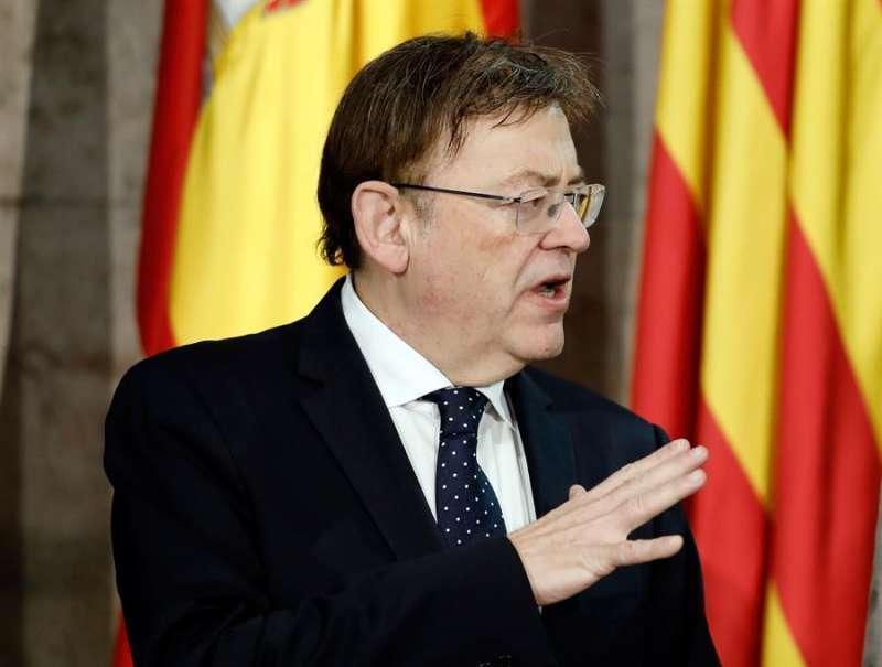 Ximo Puig en una imagen de archivo durante una rueda de prensa.