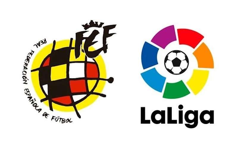 Logos de LaLiga y de la RFEF.
