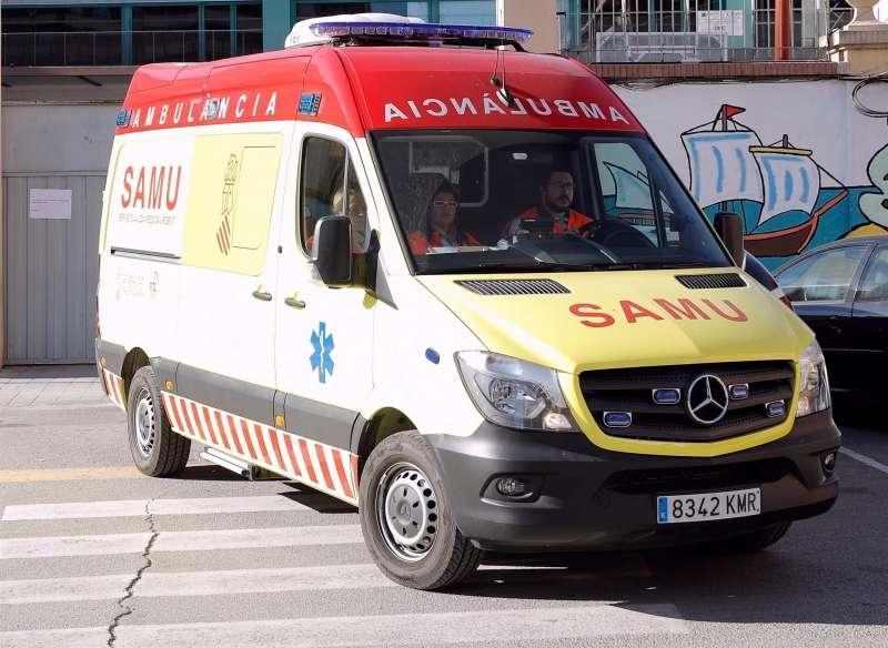 Imagen de una ambulancia Samu en un servicio.