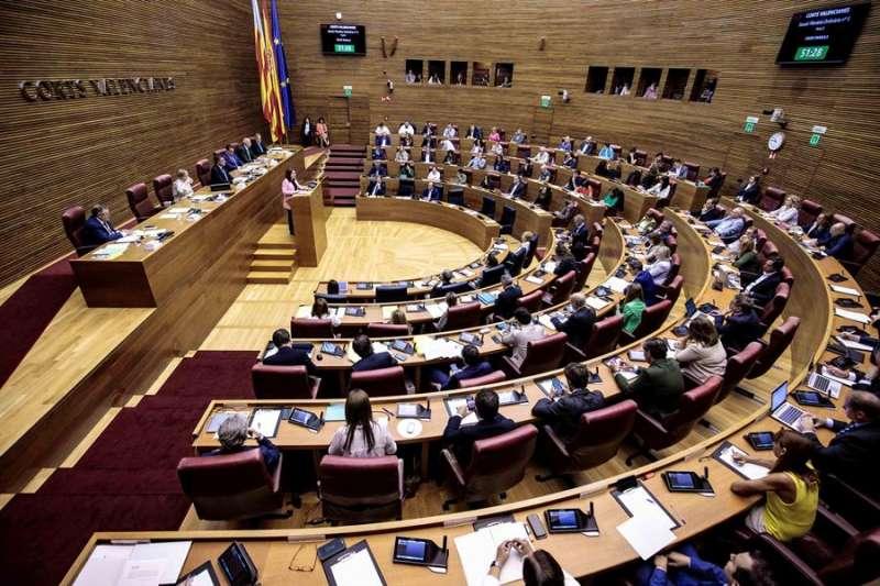 Pleno de Les Corts Valencianes. EFE/Biel Aliño/Archivo