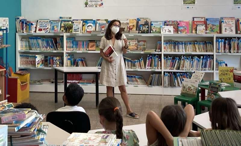 Una de les activitats en la Biblioteca. EPDA.