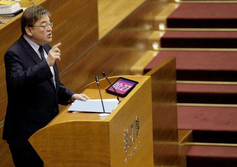El president de la Generalitat, Ximo Puig, durante una intervención en Les Corts Valencianes.EFE