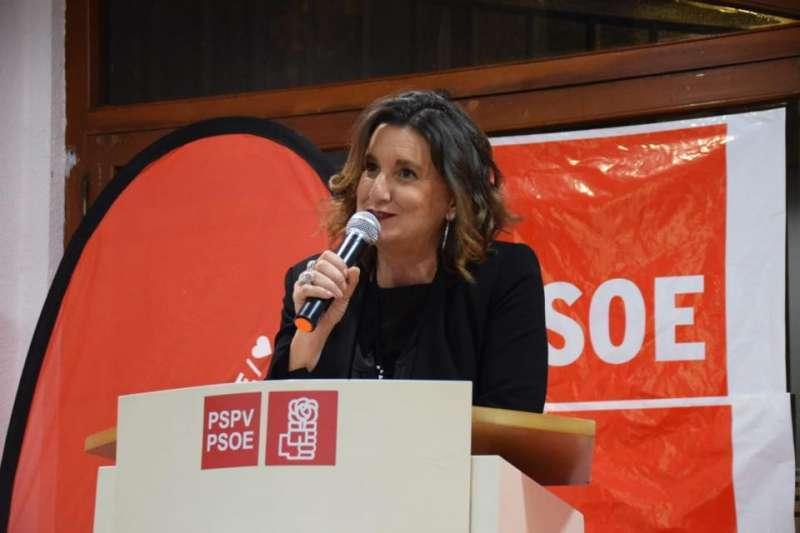 La secretaria general del PSPV-PSOE de la provincia de València, Mercedes Caballero. EPDA