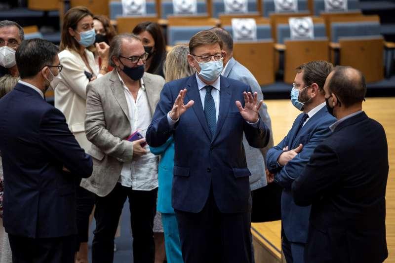 Ximo Puig durante la presentación de las actuaciones del Plan de Eficiencia Energética en Edificios Judiciales.
