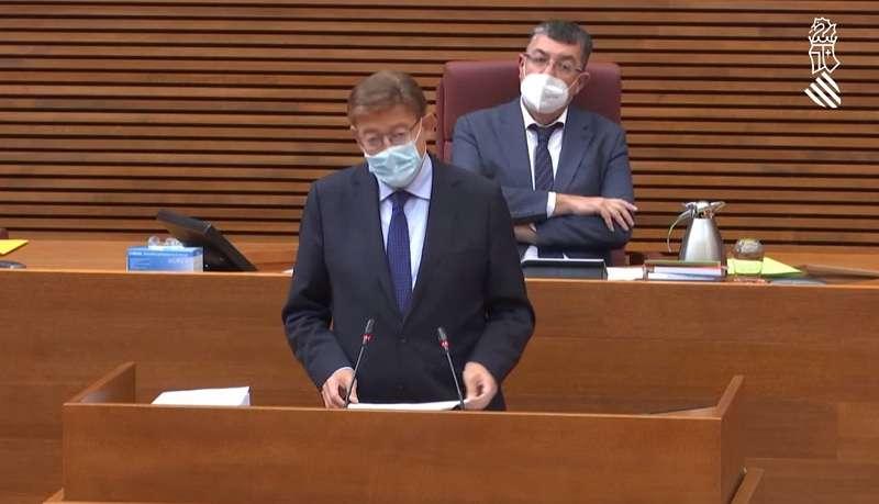 El president Ximo Puig durante el Debate de Política General de la Comunitat Valenciana.