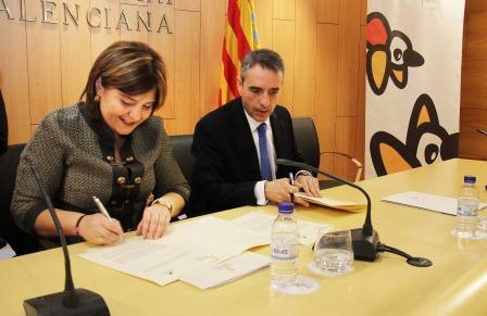 Firma del convenio entre la Generalitat Valenciana y La Caixa para proyectos de mejora de espacios naturales. EPDA