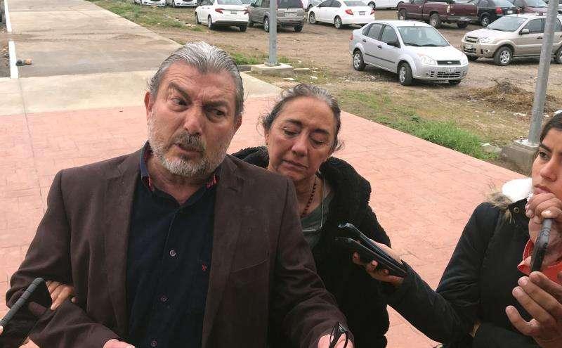 Jorge Fernandez y Adriana González, padres de Jorge Fernández Jr., declarado culpable hoy de feminicidio, en la ciudad de Reynosa, en el estado de Tamaulipas (México). Jorge Fernández, marido de la española Pilar Garrido, asesinada en México, fue declarado culpable, informaron a Efe fuentes oficiales. EFE