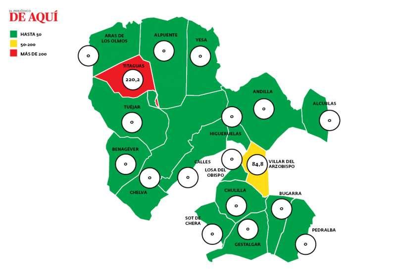 Mapa de incidencia del 9 de mayo. EPDA.