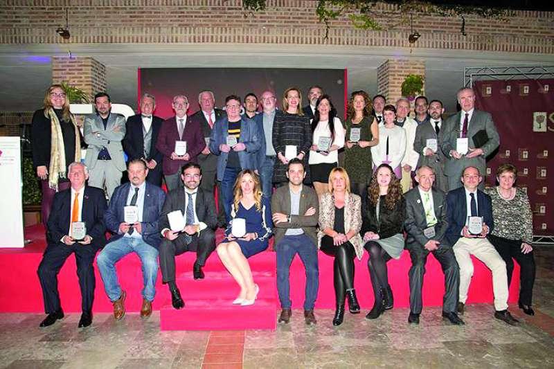 Galardonados en los VI Premios, que se celebraron en 2019 en el mismo recinto. ELVIRA FOLGUERÀ