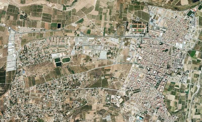 Vista aérea de Moncada
