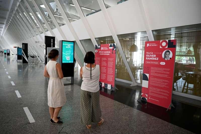 Exposición dedicada a los Premios Jaume I 2021. Imagen: GVA
