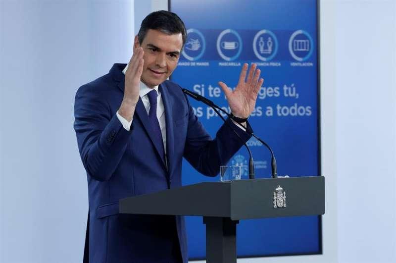 El presidente del Gobierno, Pedro Sánchez, en rueda de prensa tras la reunión del Consejo de Ministros