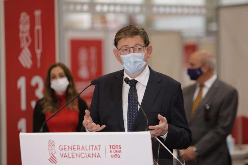 Ximo Puig durante una rueda de prensa
