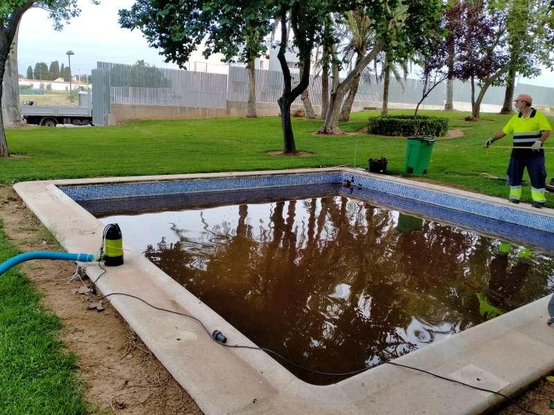 Mejoras de la piscina. EPDA.