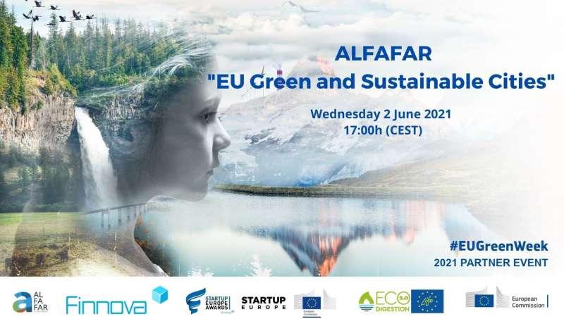 Cartel de la Semana Verde Europea 2021 celebrada por Alfafar.