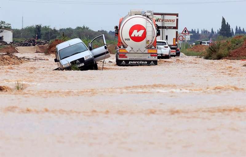 Efectos de las lluvias en Vinarós el pasado 1 de septiembre.