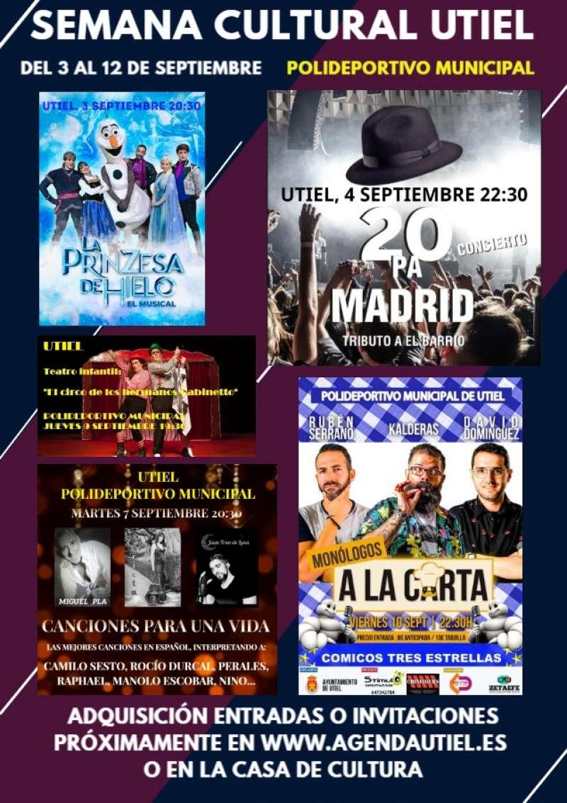 Cartel de la Semana Cultural de Utiel. EPDA