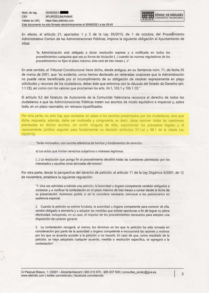 Uno de los documentos aportados por el PP. EPDA